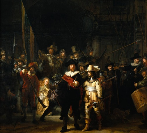 The_Nightwatch_by_Rembrandt 1642